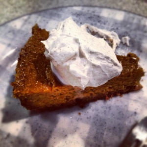 Pecan Crust Pumpkin Pie