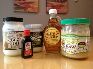 Paleo Frosting Ingredients