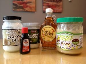 Paleo Frosting Ingredients