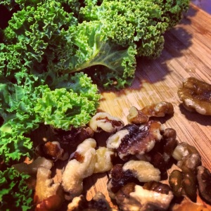Kale and Walnuts : )